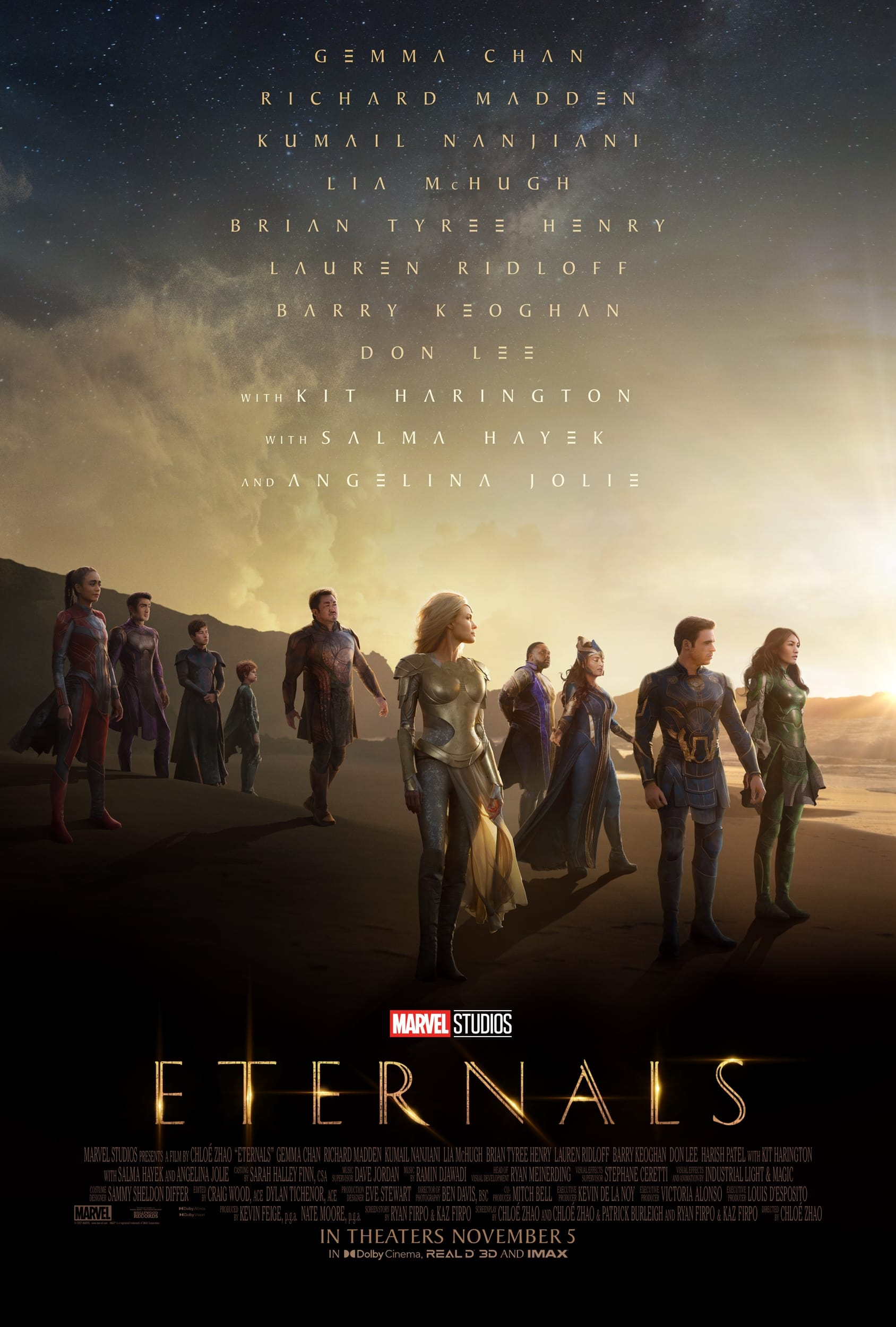 """Poster for the movie """"Eternals"""""""